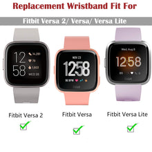 Load image into Gallery viewer, Soft Silicone Wrist Waterproof Replacement Watch Strap For Fitbit Versa/Versa 2