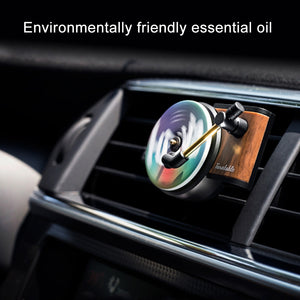 Car Air Freshener Turntable Phonograph with 3pcs Aromatherapy Tablets Record Player