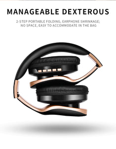 New Wireless Foldable Stereo Headphones with Build-in Mic