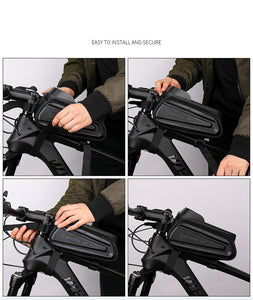 6.0 - 7.0 inch Waterproof Touch Screen Phone Case Bag for Bikes