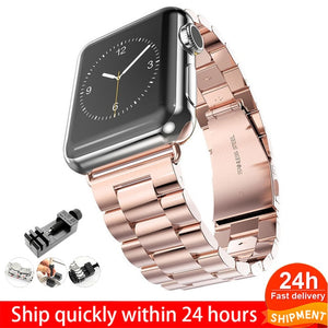 Stainless Steel Strap For Apple Watch 6 5 4 3 40mm 44mm strap 38mm 42mm