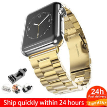 Load image into Gallery viewer, Stainless Steel Strap For Apple Watch 6 5 4 3 40mm 44mm strap 38mm 42mm