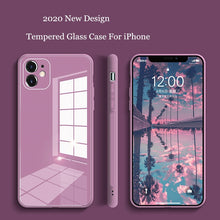 Load image into Gallery viewer, Square Tempered Glass Phone Case For iPhone 7 to 12 Pro Max