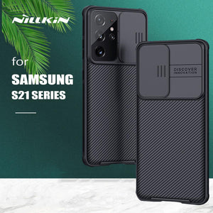 Nillkin CamShield Slide Camera Leather Frosted Shield Textured Cover for Samsung Galaxy S21 Plus 5G S21 Ultra Case