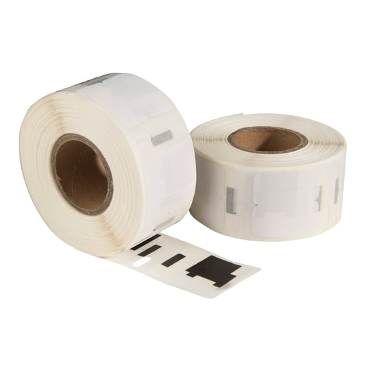 Dymo 11353 / S0722530 compatible labels, 25 mm x 13 mm, 1.000 etiketten per rol, wit, permanent