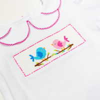 Love Birds Smocked Shirt + Pink Pants