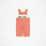 Rust Gingham Tractor and Pumpkin Longalls