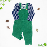Me & Henry Green Corduroy Overalls