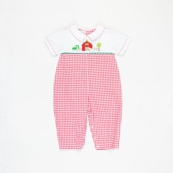 Farm Red & White Checked Longalls