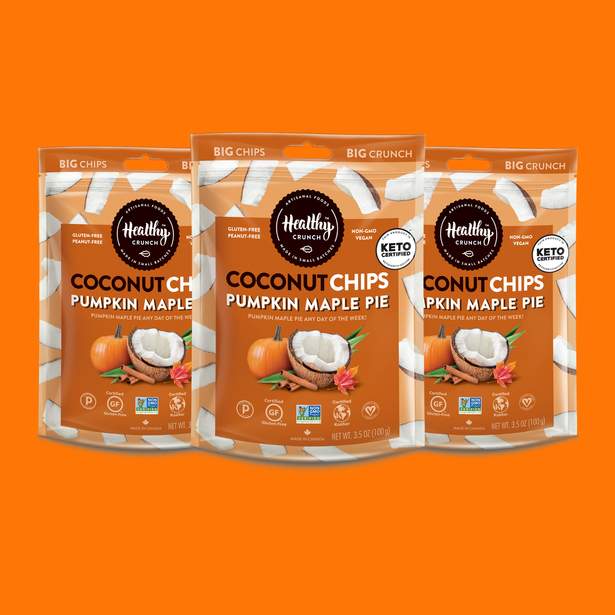 Pumpkin Maple Pie Coconut Chips