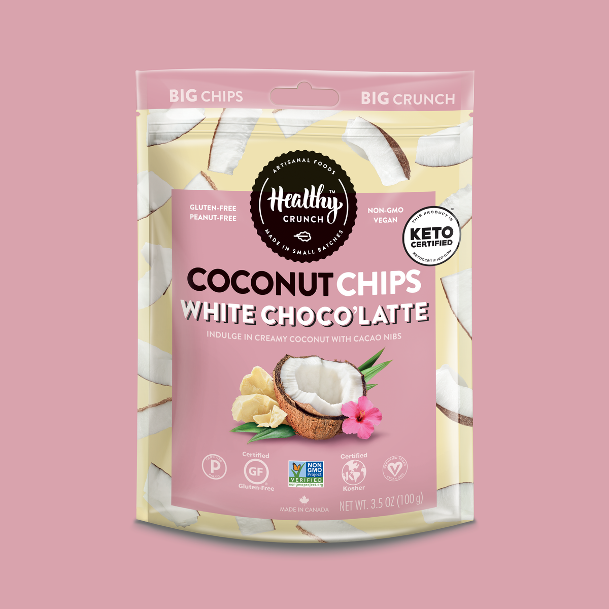 White Choco'Latte Coconut Chips