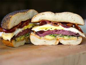Pastrami, Egg and Cheese Sandwich