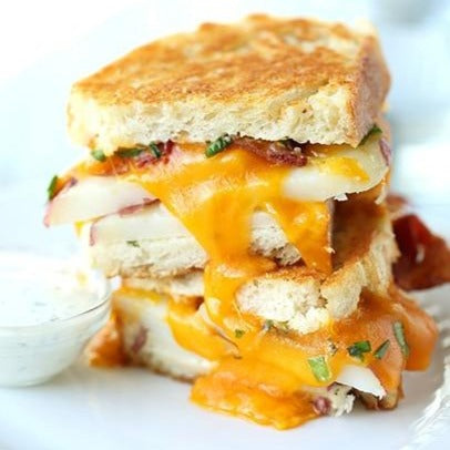 Potato, Egg and Cheese Sandwich