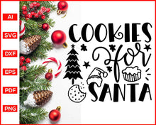Load image into Gallery viewer, Cookies for Santa svg, Funny Kitchen Quotes, Cooking Svg, Dish Towel Svg, Pot Holder Svg, Christmas Pot Holder Svg, Pot Holder Svg, Baking Svg, Christmas Baking svg, Baking Quotes Svg, Apron Svg, Kitchen Sign Svg, svg files for cricut, eps, png, dxf, silhouette cameo