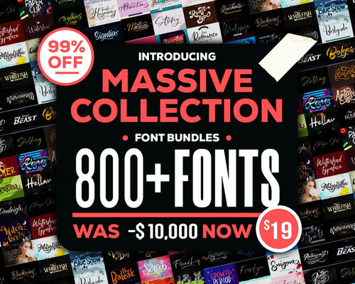 800+ Premium Massive Collection Fonts Bundle, All Professional Font Collections, Calligraphy, Wedding Fonts, Modern Handwriting Fonts