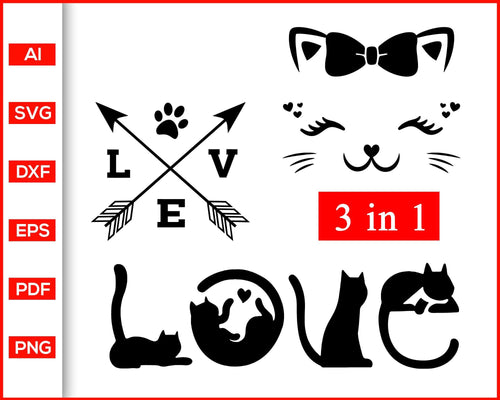 Love with Paw Svg, Fur Mom Svg, Rescue Animals Shirt Svg, Cat Lady Shirts svg, Cat Mama shirt svg, Cat Mom Shirts svg, Fur Mama Shirts svg, Cat quotes, svg files for cricut, eps, png, dxf, silhouette cameo