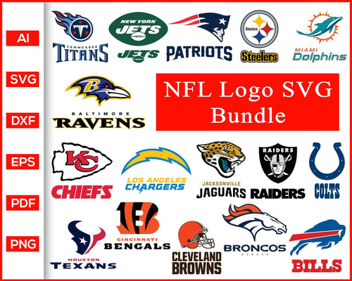NFL All 32 Teams Svg All Nfl Teams Svg Nfl Logo Football Svg Football Teams Svg cut file silhouette cricut vector clipart print ready editable svg file