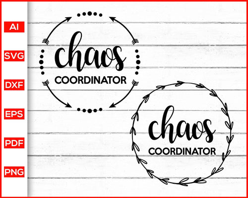 Chaos Coordinator Svg Teacher Kids Cheer Caos Svg Teaching Svg