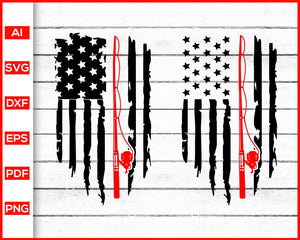 Download Fishing Distressed American Flag Svg Flag Fishing Rod Svg American F Editable Svg File