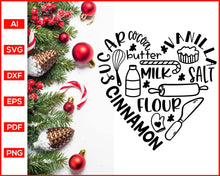 Load image into Gallery viewer, Cinnamon Flour svg, Funny Kitchen Quotes, Cooking Svg, Dish Towel Svg, Pot Holder Svg, Christmas Pot Holder Svg, Pot Holder Svg, Baking Svg, Christmas Baking svg, Baking Quotes Svg, Apron Svg, Kitchen Sign Svg, svg files for cricut, eps, png, dxf, silhouette cameo