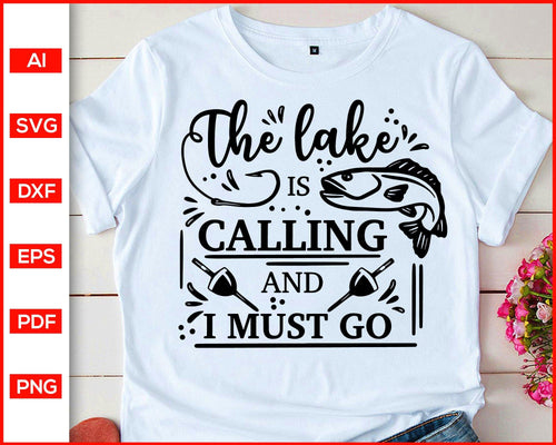 The lake calling and i must go svg cut file silhouette cricut vector clipart print ready editable svg file