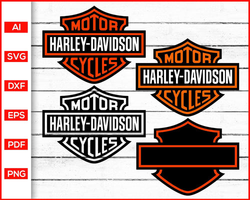 Harley Davidson Logo Svg cut file silhouette cricut vector clipart print ready editable svg file