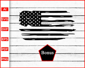 Distressed American Flag Svg, US Flag Svg, Grunge American Flag Svg - Editable SVG File