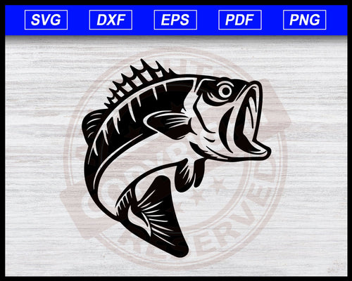 Bass Fish SVG, Sea Bass SVG, Bass Fish Cut File for Cricut, Fishing Clipart, Fish Clipart Fisherman Svg Instant Download Svg Cricut Cut Files Silhouette