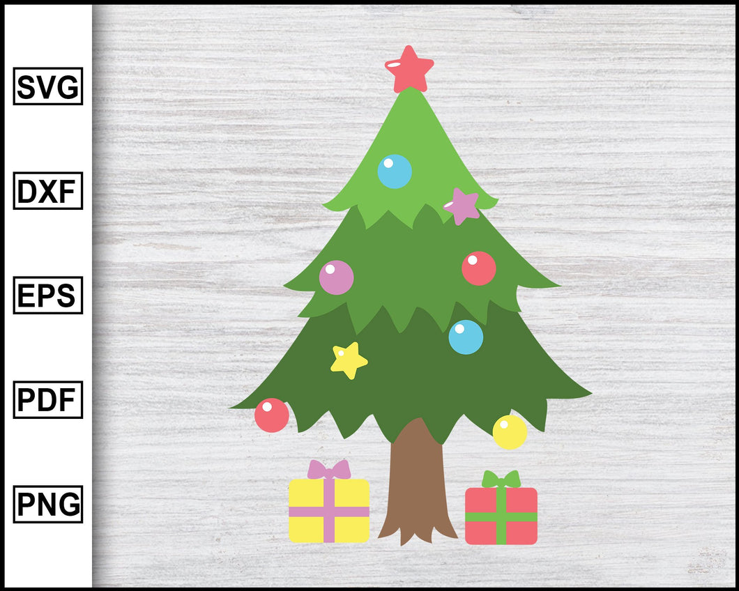 Christmas Tree Svg, Christmas Svg, Xmas Svg, Christmas Eve Svg, Christmas 2020, Decorative Tree Svg, Cricut eps png dxf