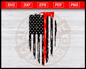 Distressed Firefighter Flag Svg, Fire Department Svg, Firefighter Axe Svg, USA Flag Svg, American Firefighter Flag Instant Download Svg Cricut Cut Files Silhouette