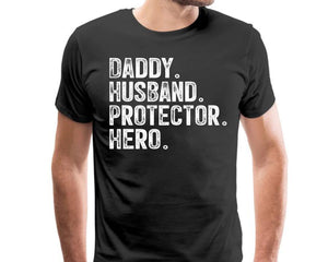 Daddy Husband Protector Hero Svg Police Dad Svg Husband Svg Anniversary from Wife, Father's Day Gift from Daughter, Daddy Svg eps png dxf Printable Files