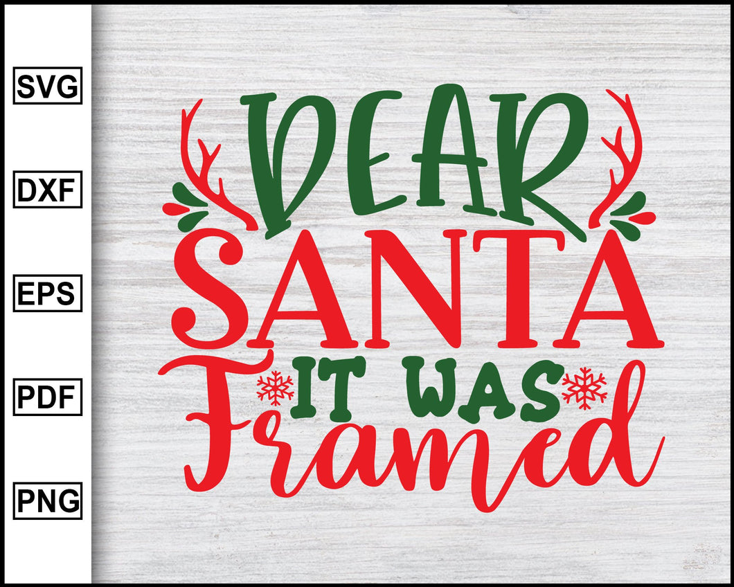 Dear Santa It Was Framed Svg, Christmas Svg, Christmas 2020 Svg, Xmas Svg, Christmas Eve Svg, Ugly Christmas Svg eps png dxf