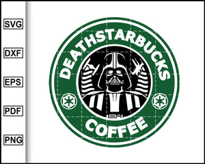 Death Starbucks Coffee Svg, Star Wars Svg, Darth Vader AI, Starbucks Svg, Coffee Svg, Decal Cricut, cut file for cricut eps png dxf silhouette printable files