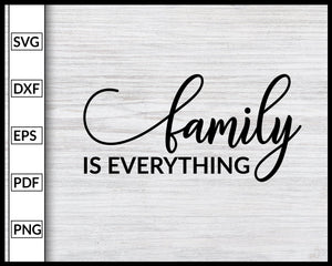 Family Quotes Svg Inspirational Quotes Svg Cut File For Cricut Silhouette eps png dxf Printable Files
