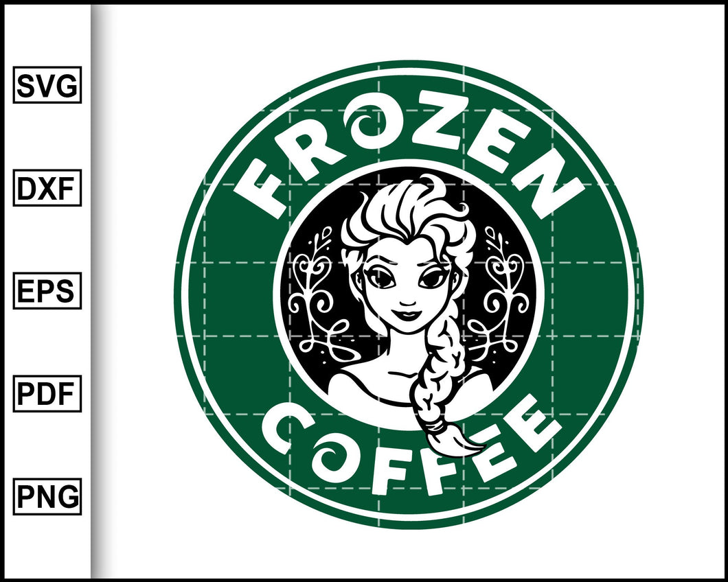Frozen Coffee Svg, Starbucks Svg, Coffee Svg, Decal Cricut, cut file for cricut eps png dxf silhouette printable files