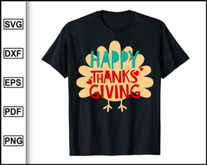 Happy Thanksgiving svg, Thanksgiving svg, Turkey day svg, Fall svg file, Autumn svg, svg cut file, Printable Files