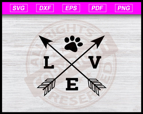 Love with Paw Svg, Fur Mom Svg, Dog Mom Svg, Cat Mom Svg, Paw Print Svg, Rescue Animals Shirt Svg Instant Download Svg Cricut Cut Files Silhouette
