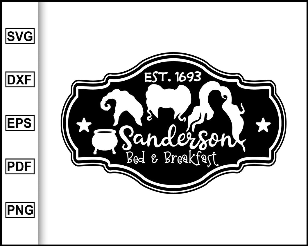 Sanderson Sister Bed and Breakfast, Halloween Villains SVG, Maleficent Svg, Halloween Svg, Evil Queen Svg, Cruella Svg, Cricut, Silhouette Cut Files
