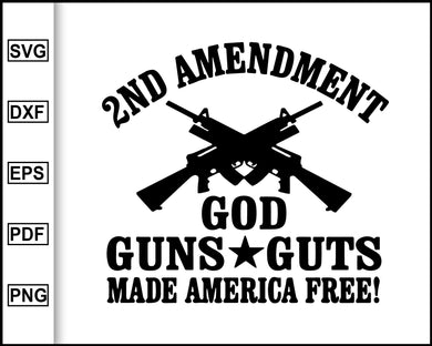 2nd Amendment, America's Original Homeland Security, Gun Rights, Defend the Second Amendment, AR-15, Right to Bear Arms, cut file for cricut eps png dxf silhouette cameo