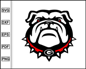 GA Bulldogs, Bulldogs Svg, cut file for cricut eps png dxf silhouette cameo