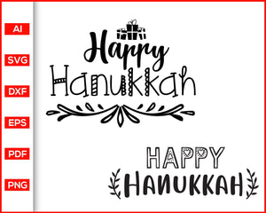Happy Hanukkah Svg, Hanukkah Svg files, Svg Christmas Designs, Funny Christmas Sayings for Shirts, Svg files for cricut