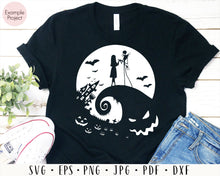 Load image into Gallery viewer, Jack and Sally svg, Jack Sally Boogieman, Nightmare Before Christmas, Halloween Nightmare Clip Art, Halloween SVG, oogie boogie svg, cut file for cricut eps png dxf silhouette cameo