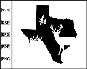 Texas Deer Duck Hunting Svg Man Dad Svg cut file for cricut eps png dxf silhouette cameo