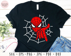 Spiderman SVG Cutting Files, Spiderman Digital Clip Art, Spiderman face Silhouette DXF Cut File, Spiderman Cricut SVG, Spiderman Svg File
