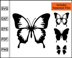 Butterfly SVG Bundle | Butterfly Clip Art | Butterfly Clipart, Butterflies Svg, cut file for cricut eps png dxf silhouette cameo