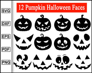 Halloween Jack O Lantern SVG, Pumpkin Halloween faces svg, cut files cricut silhouette cameo, Pumpkin Faces Svg, Cricut, jack o lantern svg face