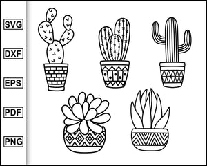 Cactus Svg Bundle, Cactus, Succulent Svg, Plant svg, Cacti svg, plants, leaves, coffee, boho svg, cactus pot, cut file for cricut eps png dxf silhouette cameo