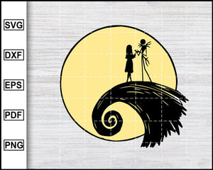 Jack Skellington SVG | Nightmare Before Christmas SVG | Jack and Sally svg, Halloween SVG, Christmas SVG, cut file for cricut eps png dxf silhouette cameo