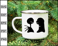 Load image into Gallery viewer, Jack and Sally svg, Jack Skellington SVG, Nightmare Before Christmas SVG, Halloween SVG, Christmas SVG, cut file for cricut eps png dxf silhouette cameo