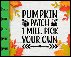 Pumpkin Patch Svg Thanksgiving Svg Cut File For Cricut Silhouette eps png dxf Printable Files